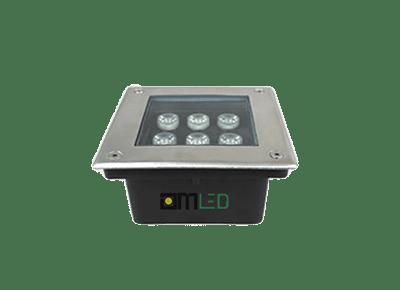 Đèn LED âm đất vuông 6W