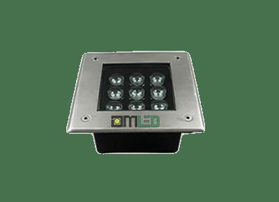 Đèn LED âm đất vuông 9W