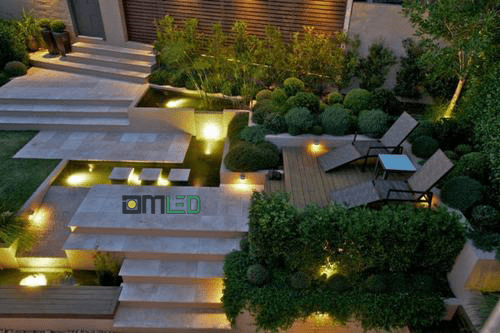 Thiết kế hệ thống đèn chiếu sáng sân vườn đẹp lung linh - Ảnh 1