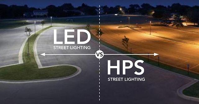 So sánh đèn đường LED và đèn đường HPS - Ảnh 1