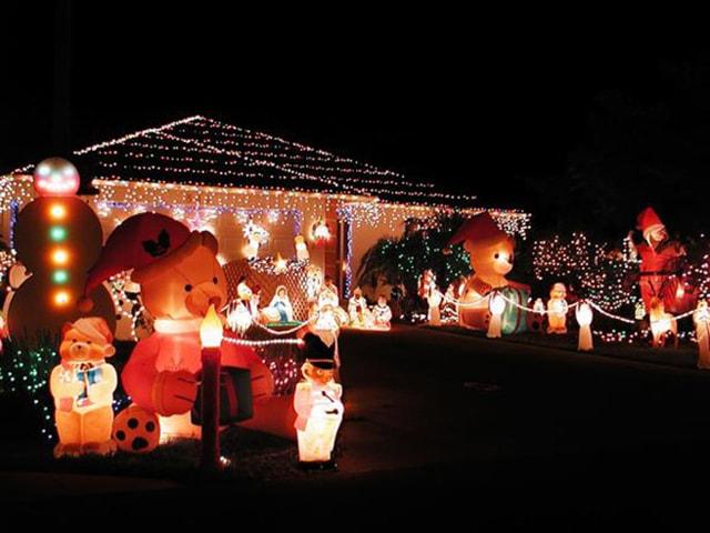 Những ý tưởng chiếu sáng ngoài trời tuyệt đẹp trong đêm giáng sinh - Ảnh 17