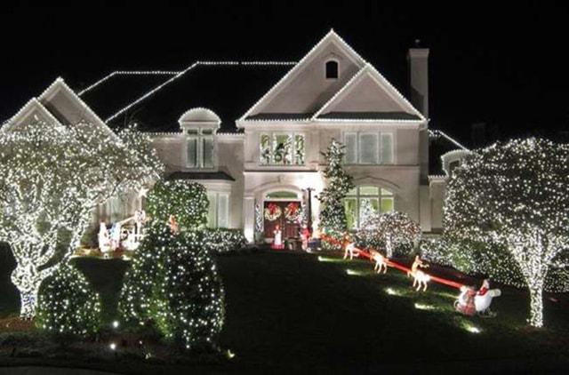 Những ý tưởng chiếu sáng ngoài trời tuyệt đẹp trong đêm giáng sinh - Ảnh 20