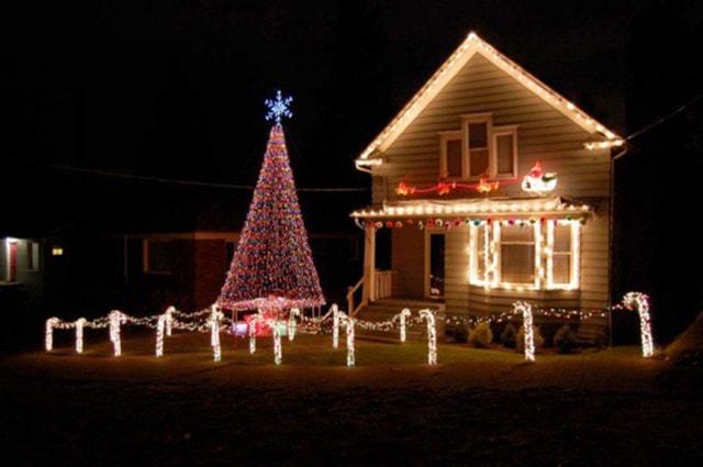 Những ý tưởng chiếu sáng ngoài trời tuyệt đẹp trong đêm giáng sinh - Ảnh 3